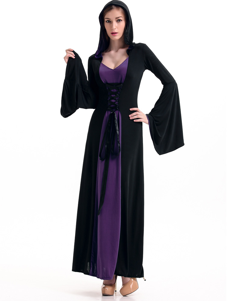 Hooded Robe Costume Purple
