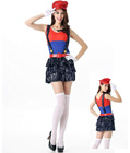 Mario Luigi Plumber Sequin Costume Red