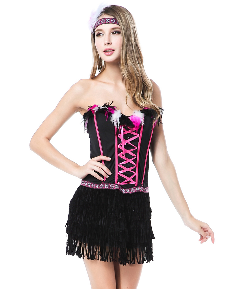 Feather Indian Costume Wholesale Lingerie Sexy Lingerie