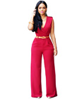 Slim Fit Elegant Jumpsuit Red