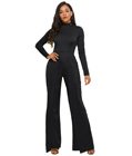 Casual Sheath Jumpsuit Black