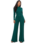Casual Sheath Jumpsuit Green