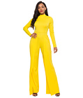 Casual Sheath Jumpsuit Yellow