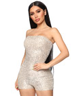 Sequinned Bodycon Romper