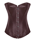 Leather Strapless Corset Coffee