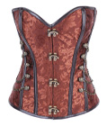Exclusive Metal Boned Corset Brown