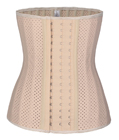 25 Spiral Steel Boned Breathable Latex Waist Trainer Nude
