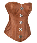 Steel Boned Luxury Suede Leather Corset