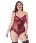 Plu Size Sexy Teddy Red