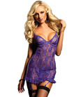 Paisley Pleasure Chemise Purple