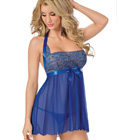 Blue Bridal Nightwear Plus Size Babydoll