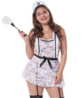 Plus Size Apron Maid Lingerie Costume