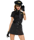 Sexy Pilot Girl Costume Black