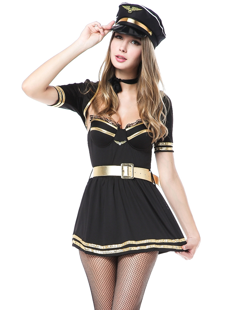 Push Up French Mile High Captain Costume
