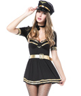 Push Up High Captain Costume Black