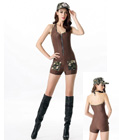 Soldier Babe Costume 2 Pcs