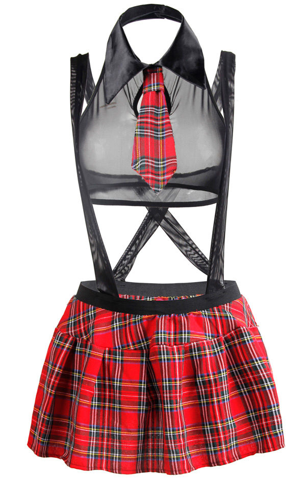 Suspended School Girl Costume Black