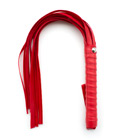 PU Leather Whip Red