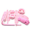 7 Piece Bondage Set Pink