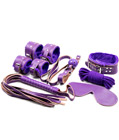 7 Piece Bondage Set Purple