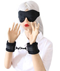 Velvet Eye Blindfold & Wrist Cuffs Set