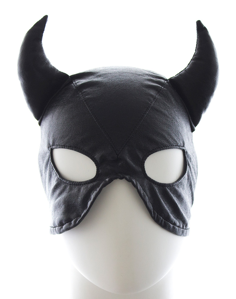 Bull Demon Hood Mask Black