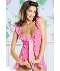 Beauty Floral Lace Babydoll Pink
