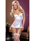 Sophia Slip and Thong Set White