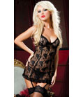 Paisley Pleasure Chemise Black