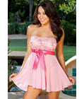 Front Tie Babydoll Pink