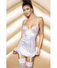 Embroidered Babydoll Set White