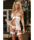 Coup De Foudre Mini Dress White