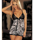 Animal Print And Lace Babydoll (Zebra)