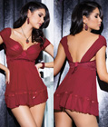 Burgundy Beauty Babydoll