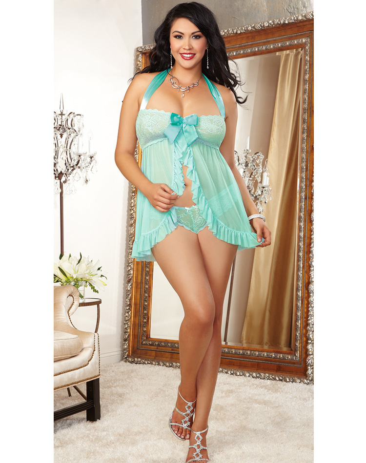 Light Green Beauty Babydoll