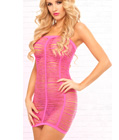 Shredded Tube Dress Pink