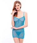 Strappy Back Mesh Babydoll Blue