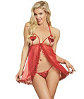 Mesh Fly Away Front Babydoll
