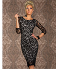 Siren Paisley Lace Midi Bodycon Dress