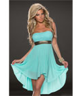 Fashoin Chiffon Tube Dress Blue