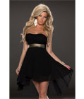 Fashoin Chiffon Tube Dress Black