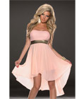 Fashoin Chiffon Tube Dress Pink