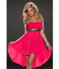 Fashoin Chiffon Tube Dress Red