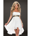 Fashoin Chiffon Tube Dress White
