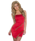 Fashion Scuba Knitting Dress Red