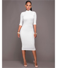 Sheath Knee-Length Club Dress White