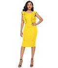 Sassy Sheath Dress Yellow