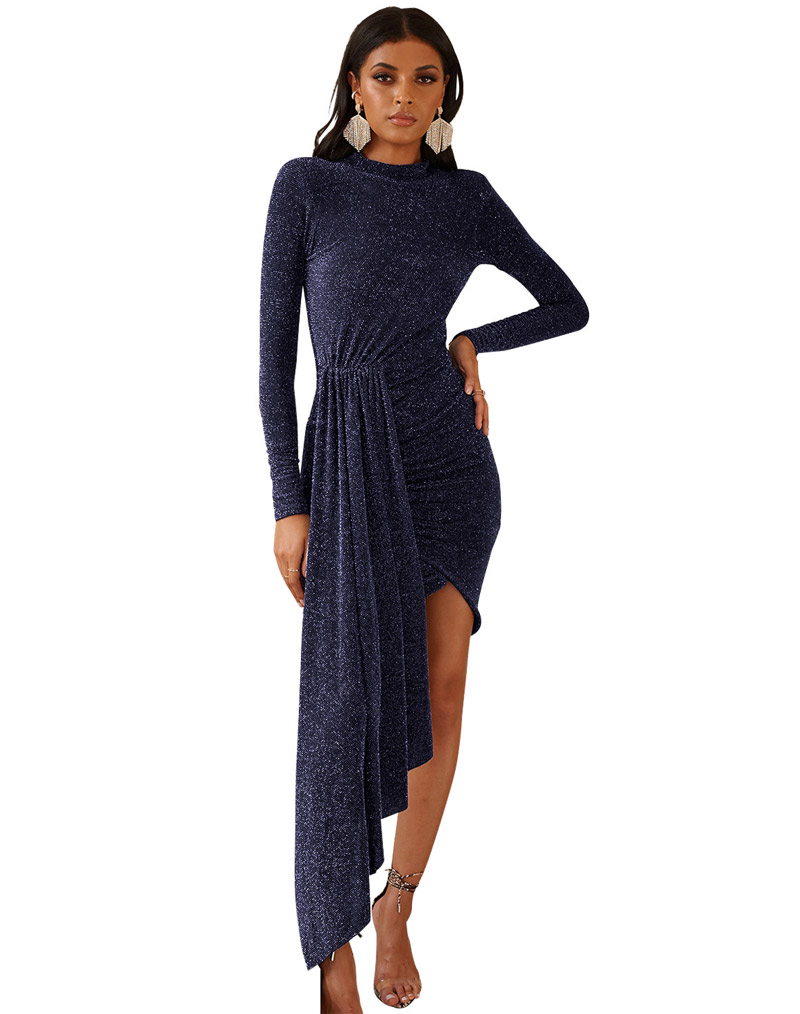 Bling Bling Bodycon Dress Blue