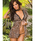 Classic Leopard Dress with G-string