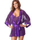 Plum Robe Set Purple